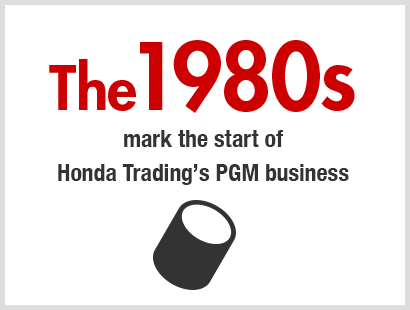 The 1980s mark the start of Honda Trading's PGM business